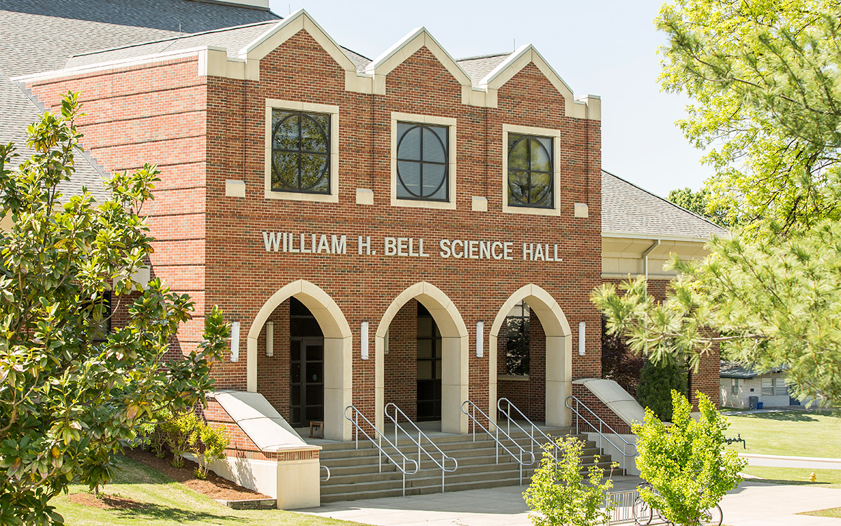 Bell Science Hall, located on the west side of campus, is home to most Natural Science classes and labs.