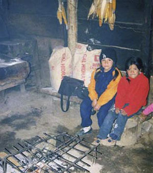 Children are exposed to carbon monoxide, smoke, and dangerous open fires