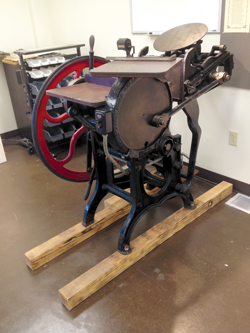 Letterpress equipment at John Brown University