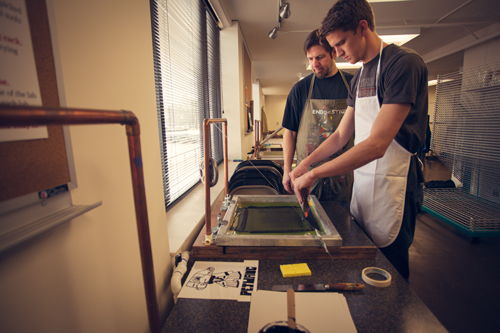 Screen Printing at John Brown University